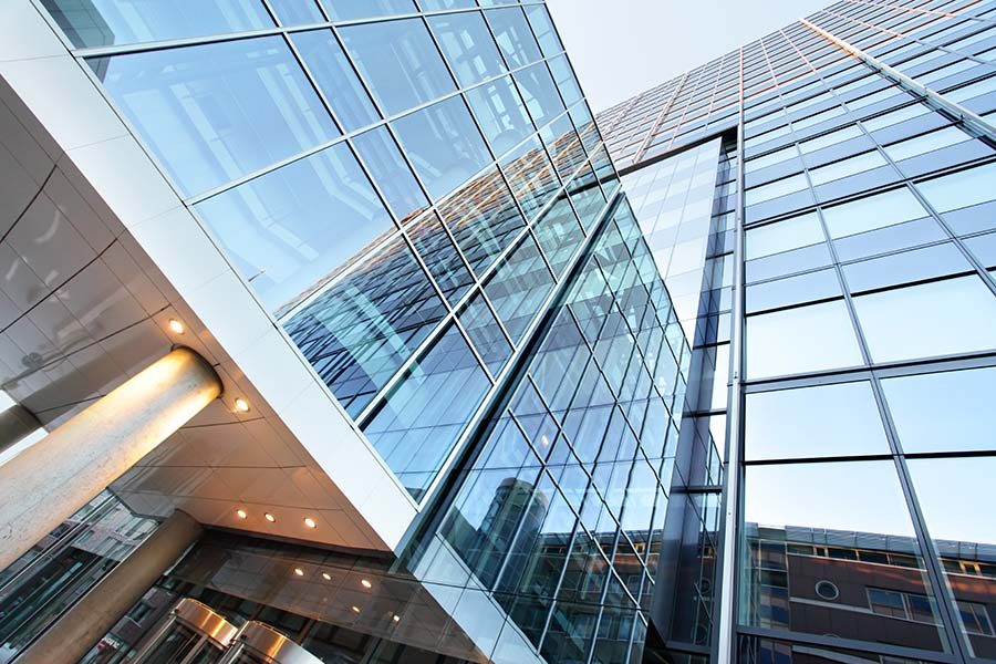 Business Insurance - Exterior Of Modern Glass Office Building